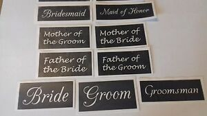 Wedding word stencil mix for etching on glass bride groom maid of honor favor