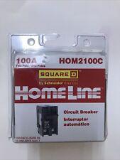 Homeline Square D Hom2100c 2 Pole 100 Amp 120240v Circuit Breaker