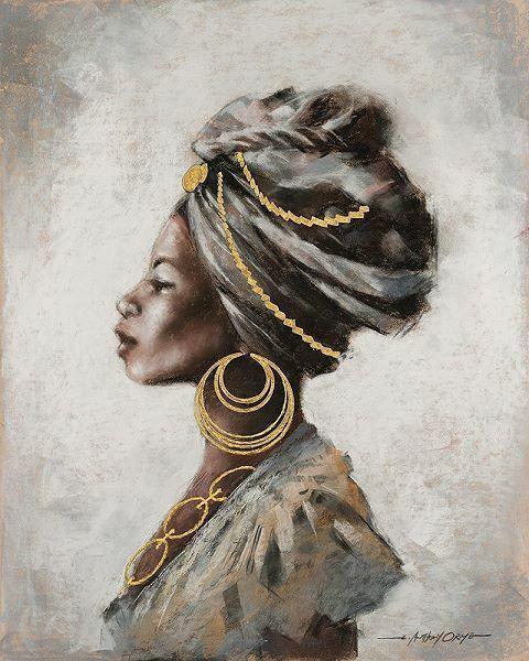 E. Anthony Orme  Beauty Strength Keilrahmen-Bild Leinwand Frau Portrait Afrika