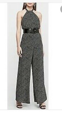 nwt EXPRESS lace bodice sweetheart halter jumpsuit 4 6 8 10 s m