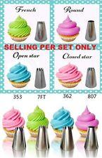 4PCS XL Big Classic  Icing Nozzle Cake Cupcake Decorating NOT WILTON Tips Set