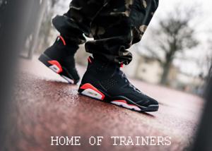 brand new 7d8ca 77b1a Caricamento dell immagine in corso Nike-Jordan-6-Retro-Og-Nero-Infrarossi -Rosso-