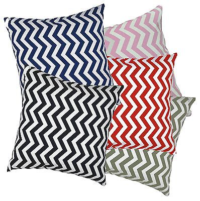 ae+5 Colors Zig Zag Wave Cotton Canvas Cushion Cover/Pillow Case*Custom Size