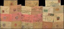 MALAYA SINGAPORE KG5 14 COVERS 1913-32 to INDIA...STRAITS etc