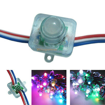 50pcs 12mm WS2811 2811 Digital Diffused RGB LED Pixel Square IP68 Waterproof 5V