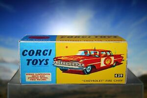 Vintage styled Corgi Chevrolet Fire Chief Reproduction Box Number 439 - Liskeard, United Kingdom - Vintage styled Corgi Chevrolet Fire Chief Reproduction Box Number 439 - Liskeard, United Kingdom