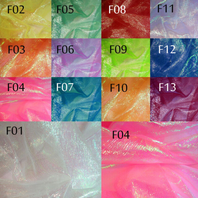 Fancy Organza Sheer Fabric w/Shiny metalic Lime Blue light reflect 1.2 M Width