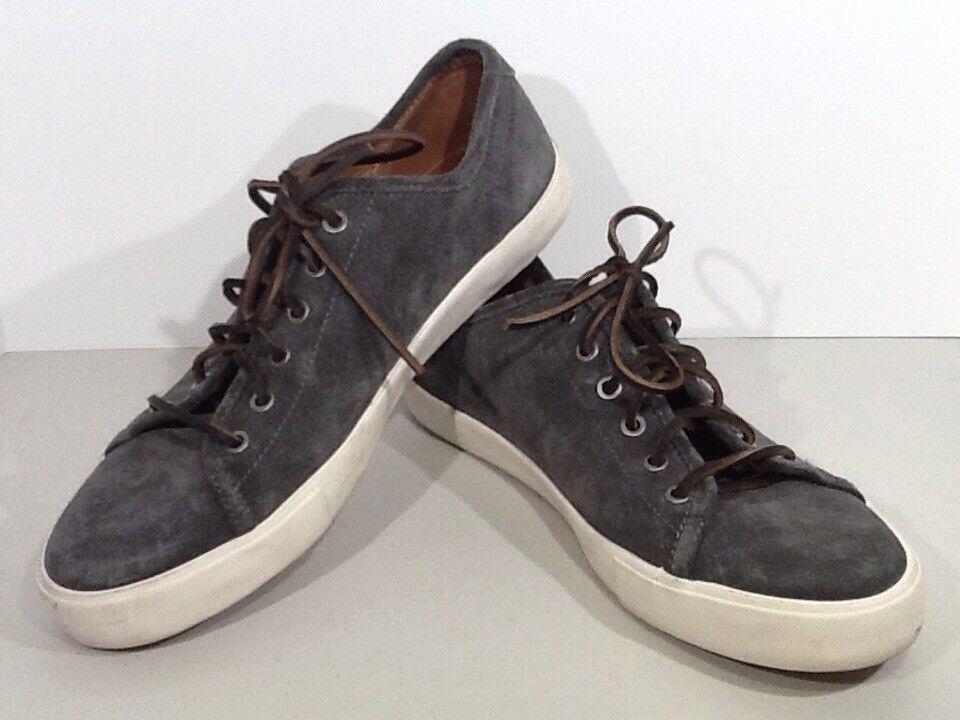 FRYE Brett Low Mens Size 9.5 Slate Oiled Leather Fashion Sneakers Shoes XF-127*