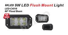 "9W 3.5"" X 6"" OFFROAD LED Work Light Flushmount 60 degree Flood Beam Wide range"
