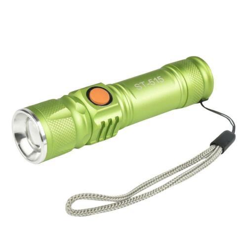 T6 LED 20000LM Mini USB Charging Flashlight Zoomable Torch 3 Modes Light XG