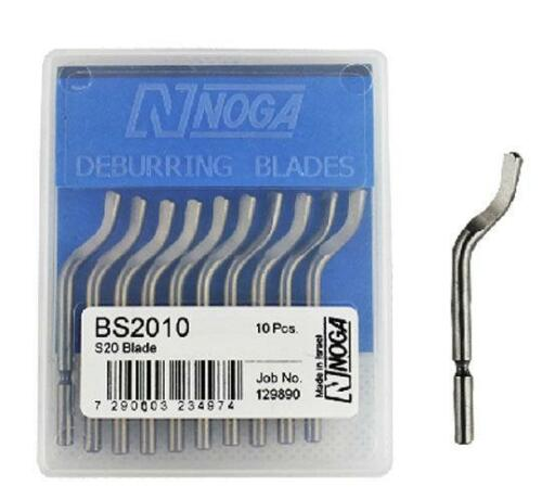 20pcs NOGA BS2010  Universal rotary Deburring Double-sided Blades More flexible