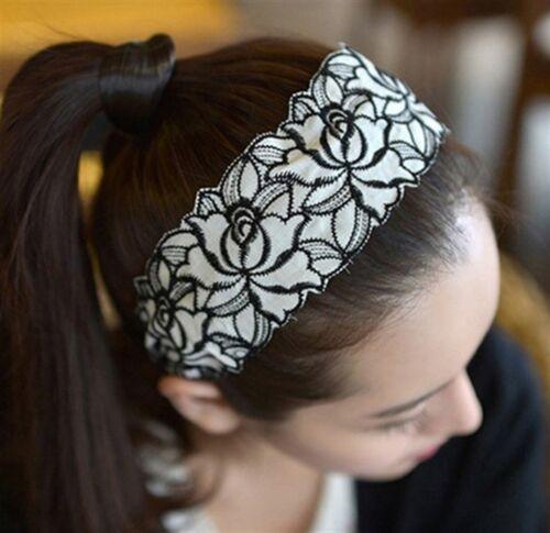 Breiter wunderschöner Haarreif Satin Floral  Haarband 3 verschiedene Farben-EDEL