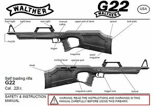 Walther G22 Rifle Owners Instruction And Maintenance Manual Ebay