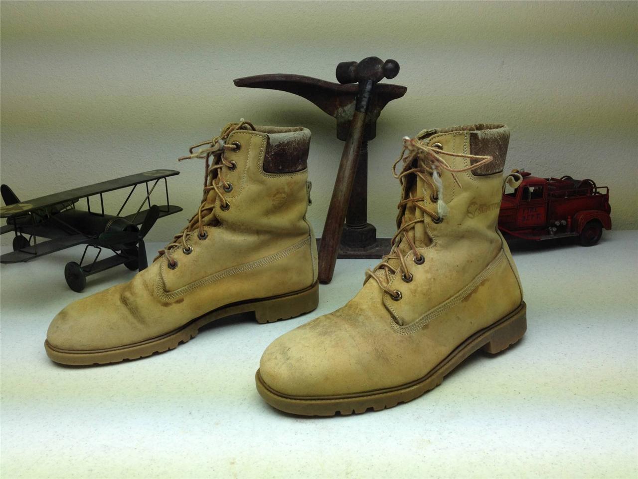 VINTAGE HERMAN SURVIVORS AMBER 20 BELOW 0 MADE IN USA LACE UP PACKER stivali 12 N