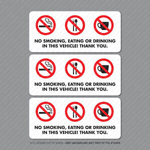 3-x-No-Smoking-Eating-Or-Drinking-Taxi-Stickers-Minicab-Cab-Notice-SKU5301