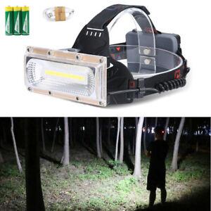 30W-LED-COB-USB-Rechargeable-18650-Headlamp-Headlight-Fishing-Torch-Flashlight-E