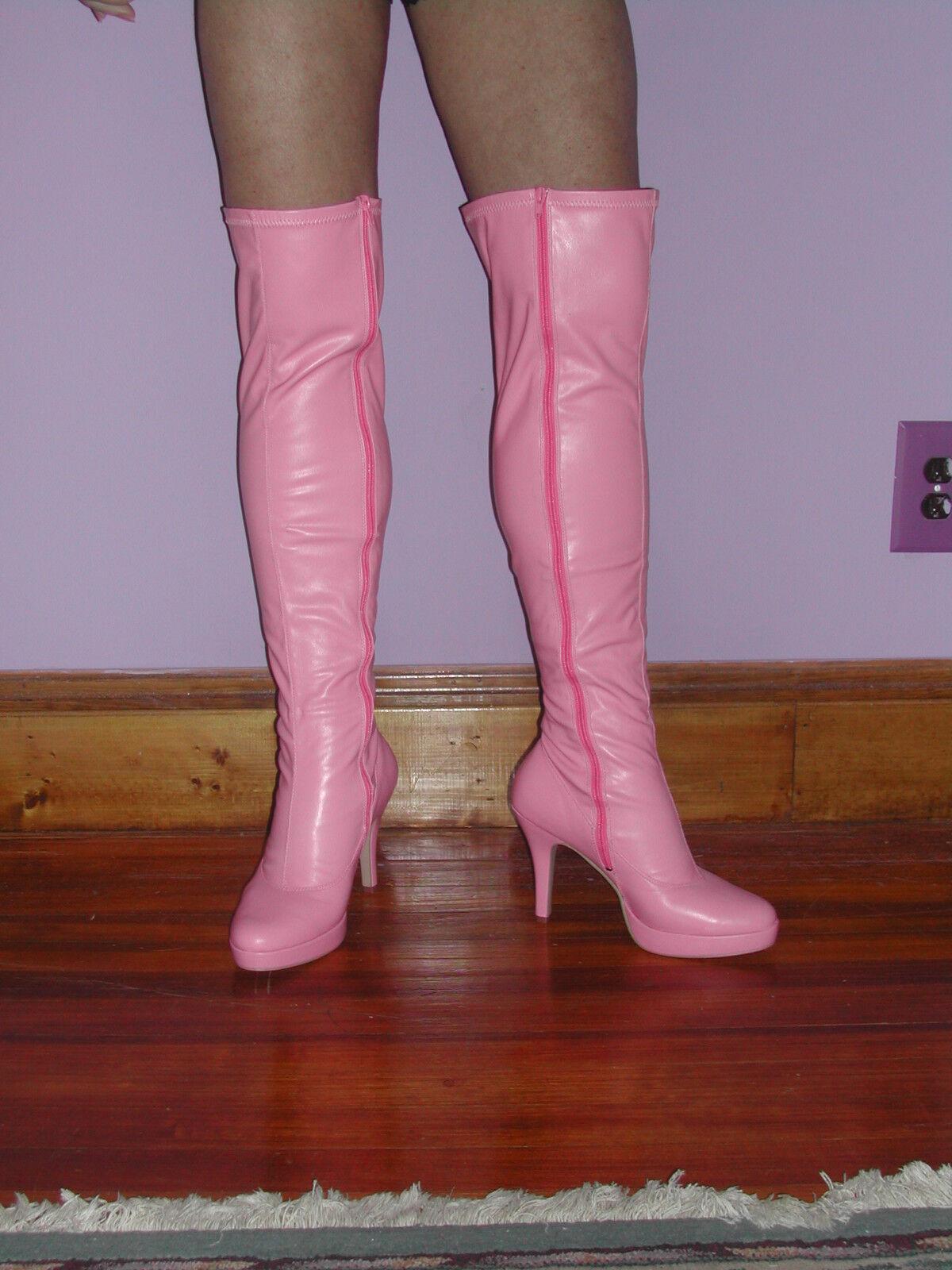 negozio online outlet rosa thigh thigh thigh high platform heeled avvio  per il tuo stile di gioco ai prezzi più bassi