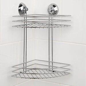 Image Is Loading Beldray 2 Tier Corner Suction Shower Basket Chrome