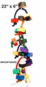 Macaw Big Snack Toy pet bird parrot cage toy macaw african grey cockatoo