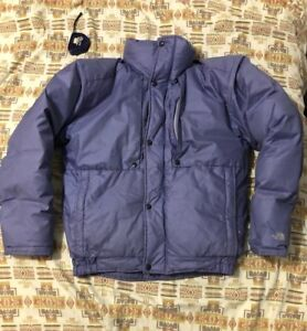 Vintage THE NORTH FACE Men s Goose Down Puffer Jacket Blue Label M ... c2824f8a5