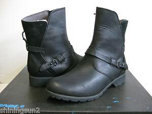 TEVA DE LA VINA WOMEN SHORT Stiefel LEATHER LEATHER Stiefel BLACK US 7  UK 5  EU 38 ... 260faf