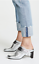 Rag-amp-Bone-Women-Elliott-Leather-Mule-Black-Silver-White-Slide-On-Mid-Heel-Round thumbnail 25