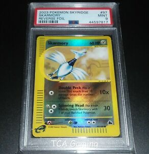 PSA-9-MINT-Skarmory-97-144-Skyridge-REVERSE-HOLO-Pokemon-Card