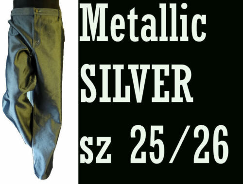 Hop Lucido Disco 3x Jeans Punk 48 26 Denim 25 Hip Ball metallizzato in Rap argento wcOwAqUg