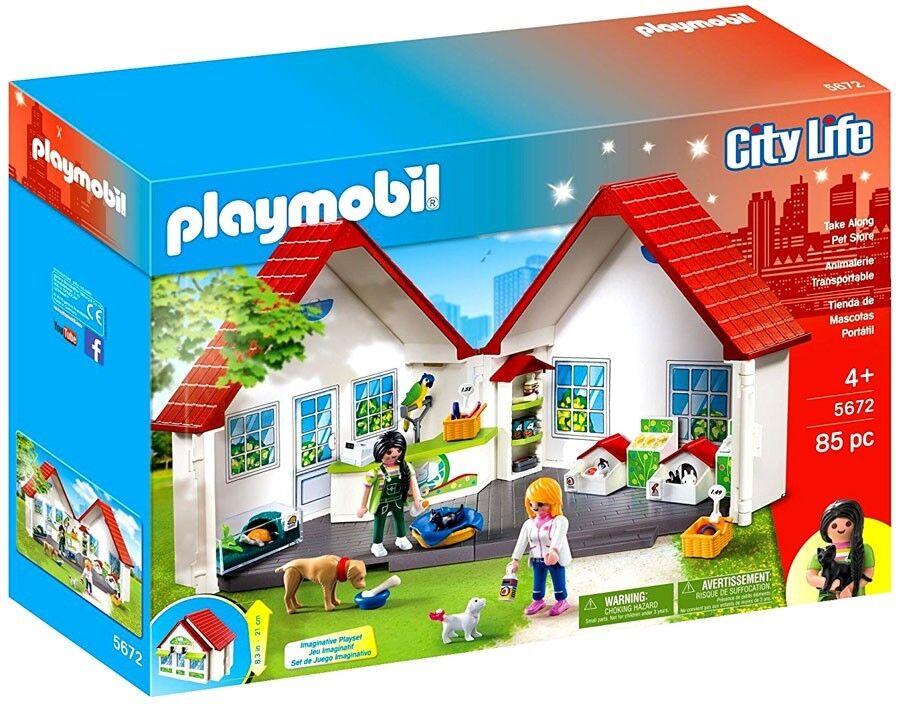 Playmobil City Life Take Along Pet Shop Set  5672