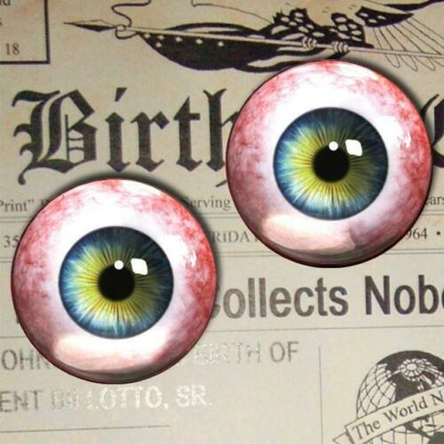 Blue Glass Eyes Realistic Human Doll Oddity Eyeball Set 35mm