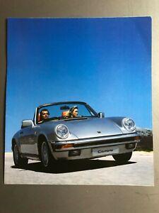 1985-Porsche-911-Carrera-Cabriolet-Picture-Print-Image-RARE-Awesome-L-K