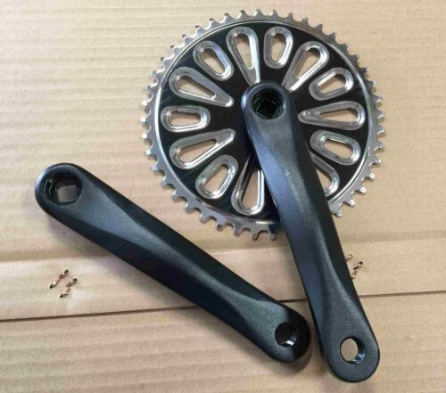 """Micargi Bike Crank set 1//2/""""x1//8/""""x40T 165mm x 40T for 7 speed"""