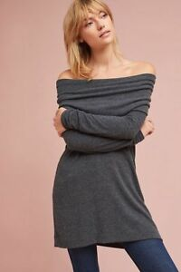 df447748cb6e NWT SZ L Anthropologie Michael Stars Off-The Shoulder Tunic Dress | eBay