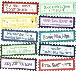 10 GET WELL SOON Greeting Card Craft Sentiment Message Banner Tags