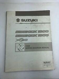 1996 Suzuki Sidekick SUV Workshop Wiring Diagram Manual X ...