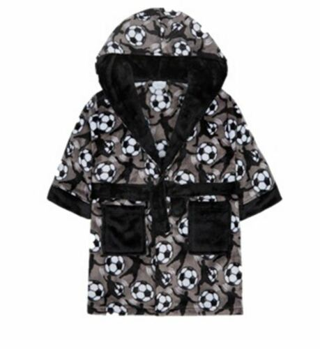 Boys Football Novelty Hooded Kids Dressing Gown