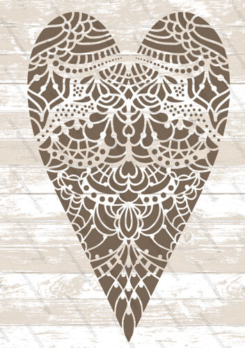 Love Heart Lace Stencil Vintage Template Home Decor Card making Paint Craft HE50
