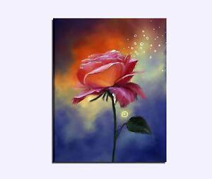 Quadri dipinti a mano su tela moderni astratti con fiori for Quadri moderni fiori dipinti a mano