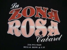 La Zona Rosa Cabaret all nude Strip Club Topless Bar Dallas Texas T Shirt 2XL