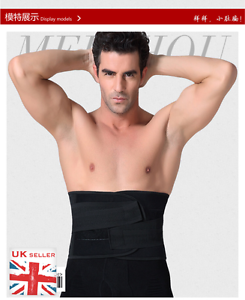 0ec96af9a27 UK Best Waist Cincher Male Corset Belly Stomach Shaper Training Belt ...