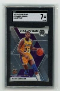 2019-20 Panini Mosaic #291 Magic Johnson Hall Of Fame SGC 7 NM Graded LAKERS