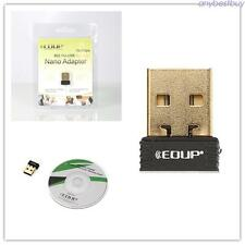 150Mbps Mini USB 2.0 Wifi Adapter Network LAN Dongle 2.4G Windows XP 7 8 10