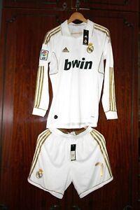 2011 12 Real Madrid Cristiano Ronaldo Kit De Manga Larga De Futbol Camiseta Pantalones Cortos Ebay