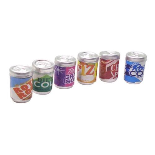 1//12 Dollhouse Bottles Miniature Juice Set Soft Drink Soda Beer Bottles Toys