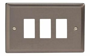 RetroTouch Double Blank Plate White Glass PG 00671