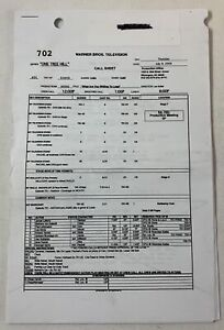 ONE-TREE-HILL-set-used-CALL-SHEET-plus-15-pages-of-sides-Season-7-Episode-2
