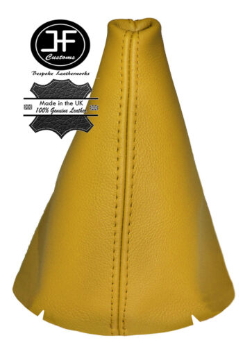 YELLOW LEATHER FITS FORD FIESTA MK7 2008-2013 GEAR STICK GAITER COVER NEW