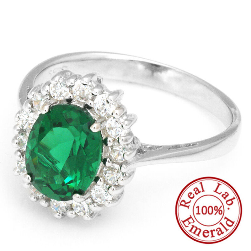 925 genuine sterling silver ring green nano russian