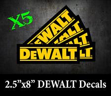 X5 Dewalt Tool Decal Sticker Usdm Vinyl Us Toolbox Vehicle Truck Window Wall Car