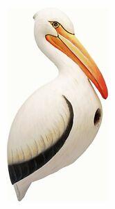 BIRD HOUSES - WHITE PELICAN BIRD HOUSE - PELICAN BIRDHOUSE - GARDEN DECOR
